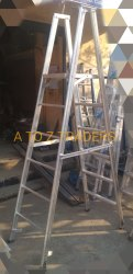 Aluminium broad platform foldable ladder
