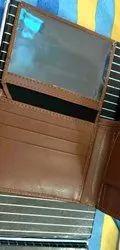 Brown Bi Fold Mens Leather Wallet, Card Slots: 5