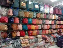 Black Leather Ladies Handbag