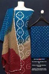 Cotton Satin Bhandan Suit