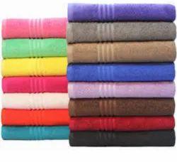 Multicolor Plain Shampoo Towel Cotton, 250-350 GSM, Size: 20x40 Inch