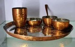 Stainless Steel 6 Piece Dinner Set, For Home, Size: 13