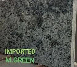 Polished Big Slab M Green Imported Granite, Thickness: 15-20 mm