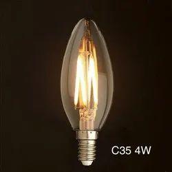 Angled Front 3 w ALZ C 35 LED Candle Bulb