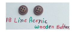 Brown Round Plastic Buttons In Wooden Look, For Garments, Packaging Type: Packet