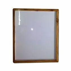 White Marker Board With Teakwood Frame