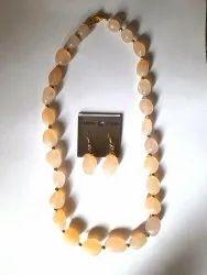 Onyx Pink Necklace Earrings Set