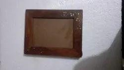 Wooden Sheesam wood photo Frame, For Decoration, Size: Standard