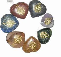 7 Chakra Heart Shape Set