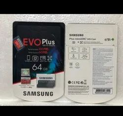 Samsung EVO Plus 64 GB Micro SDXC Class 10 100 Mbps Memory Card (With Adapter)