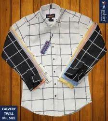 SNAPSHIRT Collar Neck TWILL CHECK BRANDED SHIRTS, Machine wash, Size: M L Xl