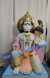 Marble hanuman ji statue seating
