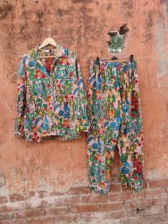 Pink Unisex Cotton Pyjama Set