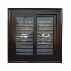Powered Coated Paint Steel Window Grills With Glass, Material Grade: 304