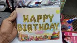 Golden Normal Air Happy Birthday Foil Balloon, Packaging Type: 13 Letters Pack