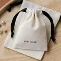 Drowsting Bag Cotton Canvas, Jewellery Bag