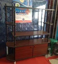 Mahagony & venghai Wood tv stand, Size: 5x 1.5 Feet ( L X W)