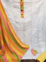 Top Chanderi with full work with blouse