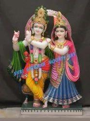 Radha Krishna Jugal Marble Statue