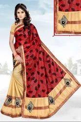 half work saree