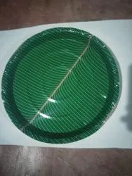 Plain Paper Plate Green 80 Gsm &100 gsm 50qty, Size: 14 Inch