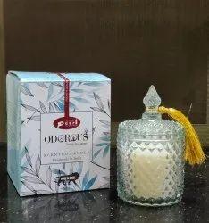 Diamond Glass Jar Candle