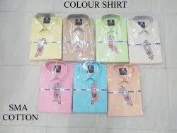Sms Cotton COLOUR PLAIN SHIRT, Size: 36 To 44