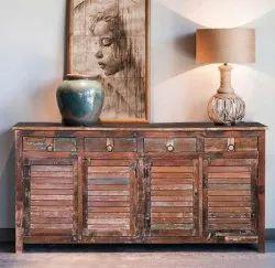 Antique New Distress Storage Cabinet