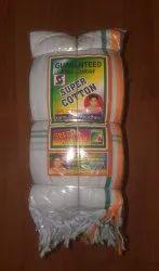 White Plain Super Cotton Gamcha, 92 GSM, Size: 1.75