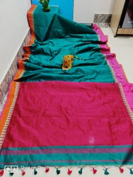Handloom Cotton Silk Temple Sarees