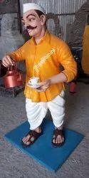 Fiber Tea Man Statue