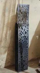 Metal Mild Steel Laser Cut Safety Door Grill, For Home