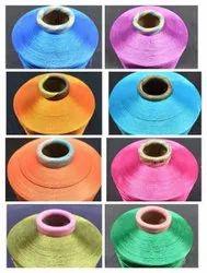 染色聚酯150明亮的纱线,编织,数量:155