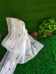 White Organdy Embroidery Sarees