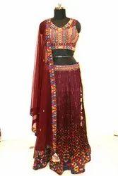 Dazzling Multi Color Party Wear Designer Readymade Lehenga Choli - 30824
