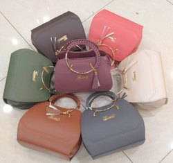 Brown Pu Leather Ladies Designer Handbag