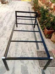 Mangalam sales Black Iron Cot Bed, Size: 6x3