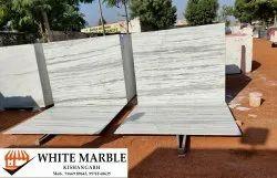White Makrana Dungri Marble Slab