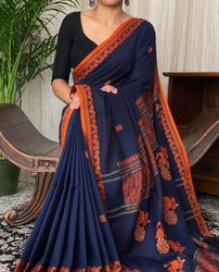 Khadi Cotton Peacock Weaving Sarees
