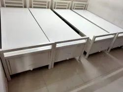 Hostel Single Cot With Storage System