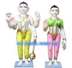 Iscon Style Vishnu Laxmi Statue