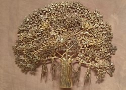 3 Feet * 2 Feet Wall Hanging Brass Tree