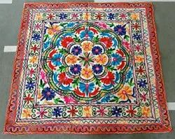 Cottan Embodary Work Table cloth, Size: 35x35
