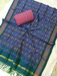 Pure ikkat Sico dress materials, Multicolour