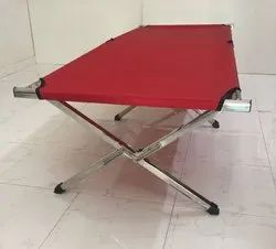 Stainless Steel Army Folding Bed