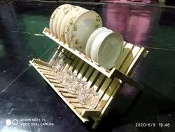Artkeval Natural Bamboo Dish Rack, For Kitchen, Hotel And Restaurant