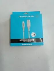 Ambrane C Type Fast Charging Cable 1meter
