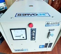 Semi-Automatic 98% 5KVA SERVO STABILIZER, 230AC, 170to280