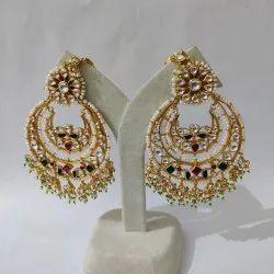 Wedding Wear Classic Bridal Kundan Necklace Set