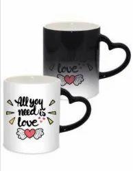 Heart Handle Magic Mug